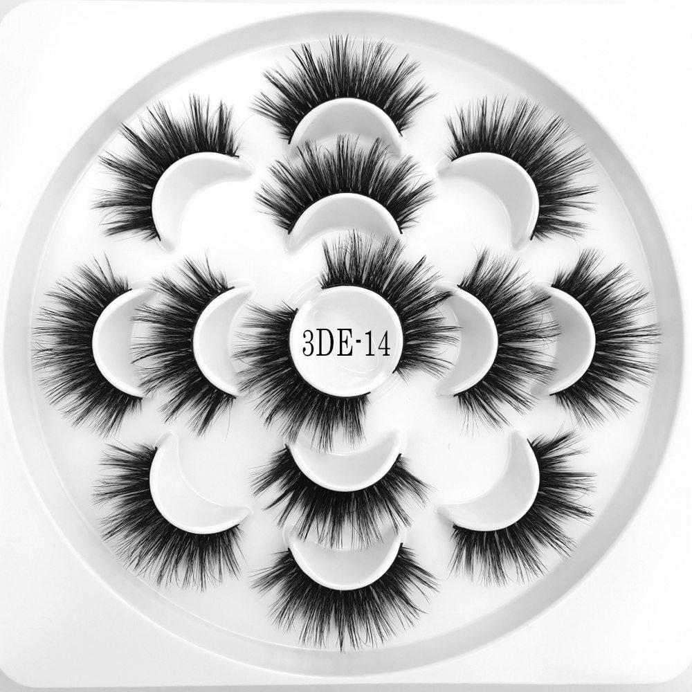 HUARUITAI 7 Pairs Flower Tray 3d Mink Eyelashes Handmade Reusable Natural Long Eyelashes 3D Silk Lashes Soft Dramatic Eyelashes