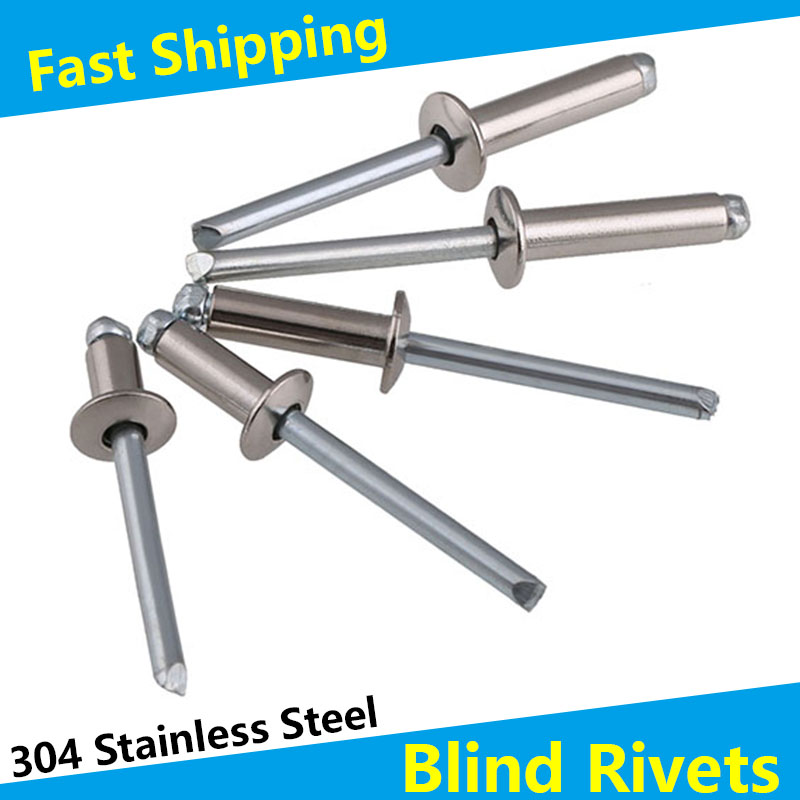 304 Stainless Steel Round Head Pop Open Hollow Blind Rivets Bolt Dropper Self-plugging Rivet Decoration Nail Rebite Blindniete