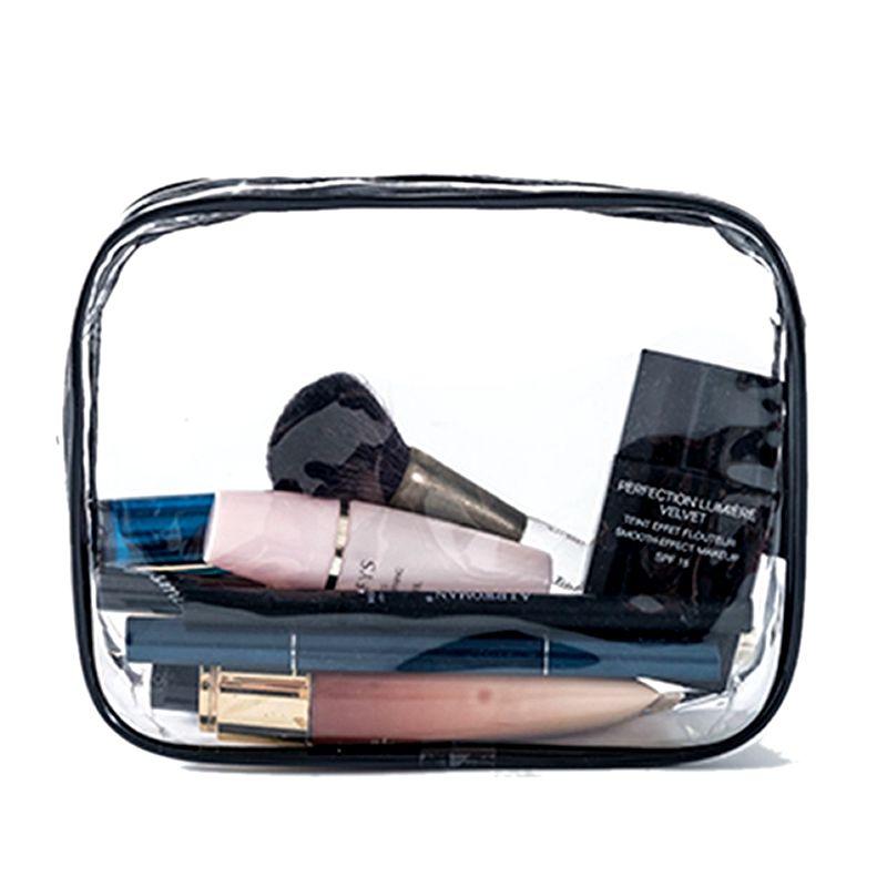Transparent PVC Cosmetic Bag Women Men Travel Makeup Purse Bag Zipper Make Up Organizer Storage Pouch Toiletry Beauty Wash  Case
