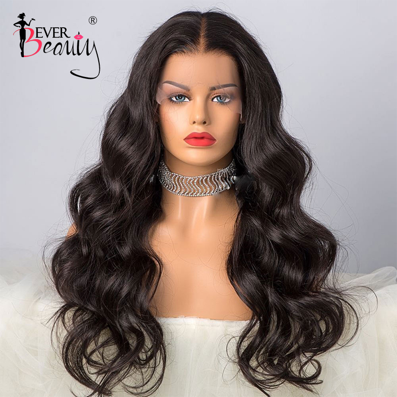 13x6 Lace Front Human Hair Wig 250 Density Brazilian Body Wave 360 Lace Frontal Wigs Fake Scalp 370 Pre Plucked Ever Beauty Remy