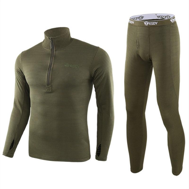 New winter Top quality new thermal underwear men underwear sets compression fleece sweat thermo training underwear men clothing