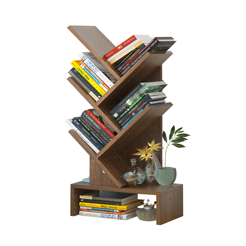Bookcase Desktop Shelves Tree-shaped, Simple Bookcase Students Hold Creative Shelves.
