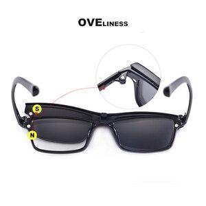 Image 2 - Gafas de sol magnéticas polarizadas con Clip para hombre y mujer, anteojos con montura óptica graduada para miopía, 2020