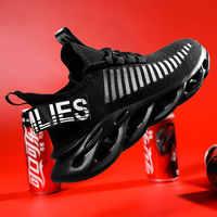2019 nouveaux hommes chaussures de course coussin d'absorption des chocs respirant léger chaussures confortables Sports de plein air baskets marche