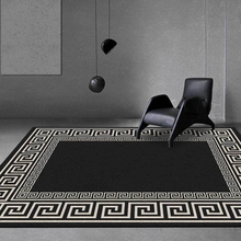 Carpet Bedroom Floor-Mat White Rug Decoration Non-Slip Living-Room Black Salon And