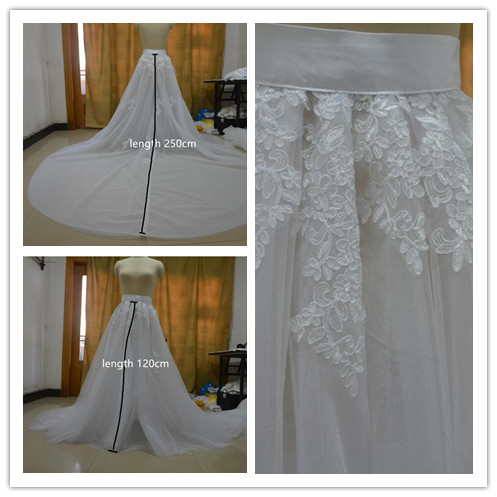 Wedding Accessory Lace Skirt With Train Removable Skirt, Tulle Over Skirt, Removable Train For Wedding Dress, Maxi Lace Skirt