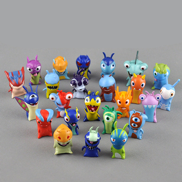 Set 24 pcs New Slugterra Elemental Slugs Slug Terra Action Figures Toy