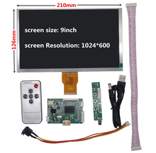 цена на 9 inch LCD Screen Display Monitor with Remote Driver Control Board HDMI for Raspberry Pi Banana/Orange Pi mini computer