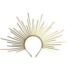 Женский головной убор Halo Crown, головной убор, Золотой пластиковый галстук на молнии, головной убор с шипами, повязка для волос
