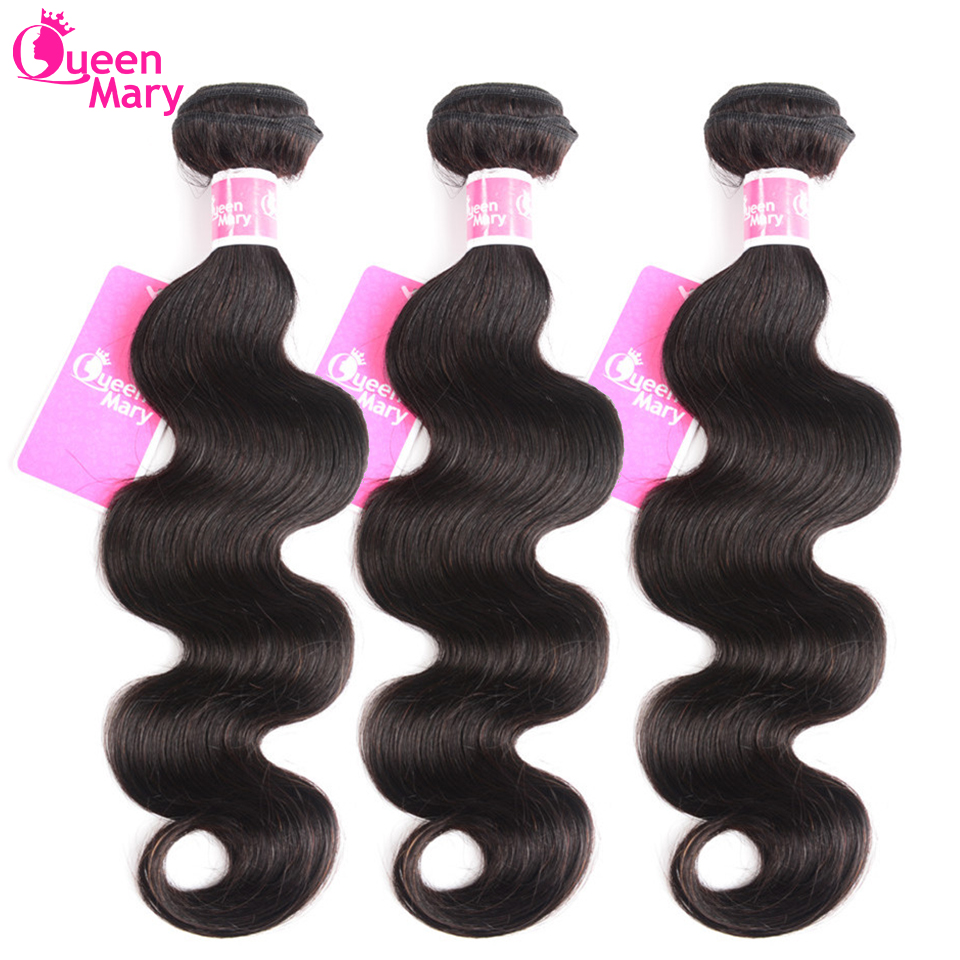 Brazilian Hair Weave Bundles Body Wave Bundles 3 or 4 Pcs/Lot 100% Human Hair Bundles Queen Mary Non-Remy Hair Extensions