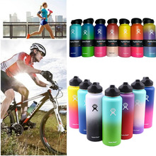 Hot!32oz/40oz Hydro Flask Vacuum Insulated Stainless Steel Water Bottle Wide Mouth with Sport/Straw/Flex cap
