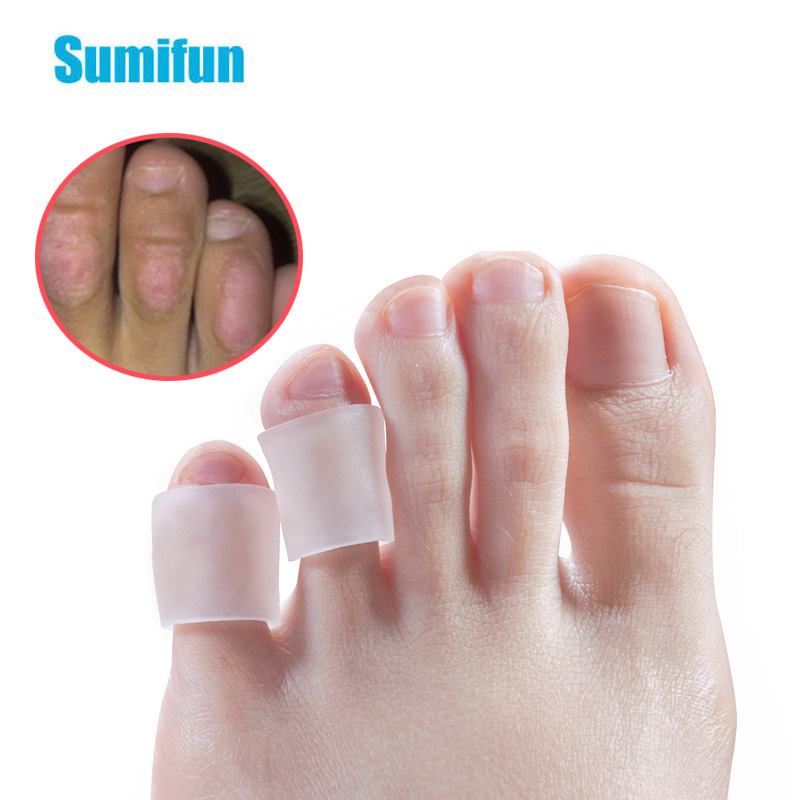 6Pcs Silicone Gel Little Toe Tube Corns Blisters Corrector Protector Gel Bunion Toe Finger Protection Foot Care Tool D2204