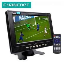 LEADSTAR D768 7 pouces DVB-T2 de télévision Portable ATSC tdt numérique et analogique mini petite voiture télévision Support USB TF MP4 H.265 AC3