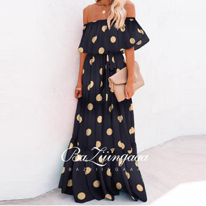 Printed Dress Prom Dress Sexy V-neck Sleeveless Embroidered Dress Slim-backed Formal Dance Dress Evening Dresses Long