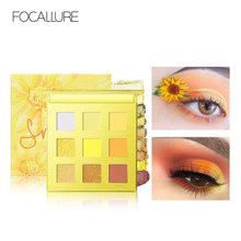 FOCALLURE Smile 9 Colors Eyeshadow Palette Matte Makeup pallete Shimmer Pigmented Nude Eye Shadow Glitter 2019 New(China)