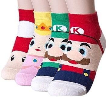 Hot Super Mario Bros Cartoon Kids Socks Action Figure Toys Boys Cosplay Socks Children Girls Birthday Christmas Toy Gifts prettyangel genuine bandai tamashii nations s h figuarts super mario brothers mario action figure