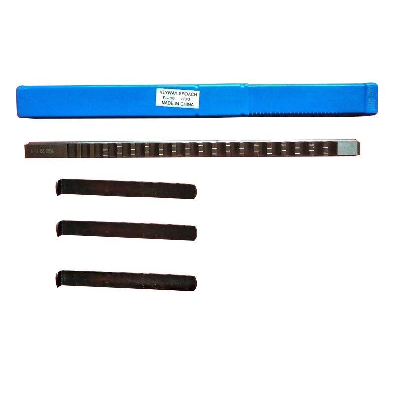 Ferramenta de Corte Feita sob Medida para a Máquina 16mm e Push-tipo Novo com 3 Keyway Broach 16 Métrica Cnc Pces Shim Hss e1 – Mod. 134545