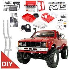 WPL C24 2,4G DIY Радиоуправляемый автомобиль, автомобиль с дистанционным управлением, Радиоуправляемый внедорожник, багги, движущаяся машина, Рад...