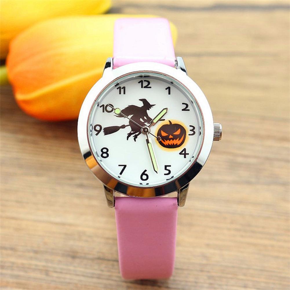 School Boy Girl Halloween Pumpkin Lantern Watches Electronic Brother Birthday Kids Gift Clock Fashion Children Wrist Watch