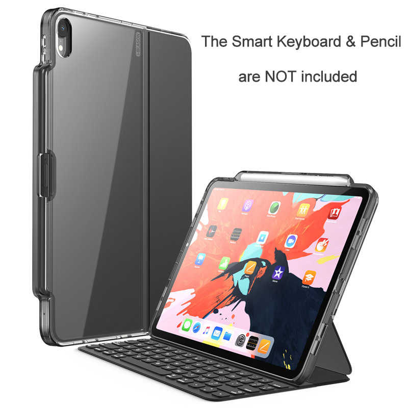 Smart Keyboard & Pencil are NOT INCLUDED!I-BLASON For iPad Pro 11 Case 2018 With Pencil Holder Compatible with Official Keyboard