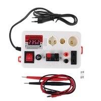 LED Lamp Bulb Light Voltage Power Quick Fast Tester for E27 B22 E14 Lamp Bulb Light Test Box with Sound Alarm EU plug N25 19
