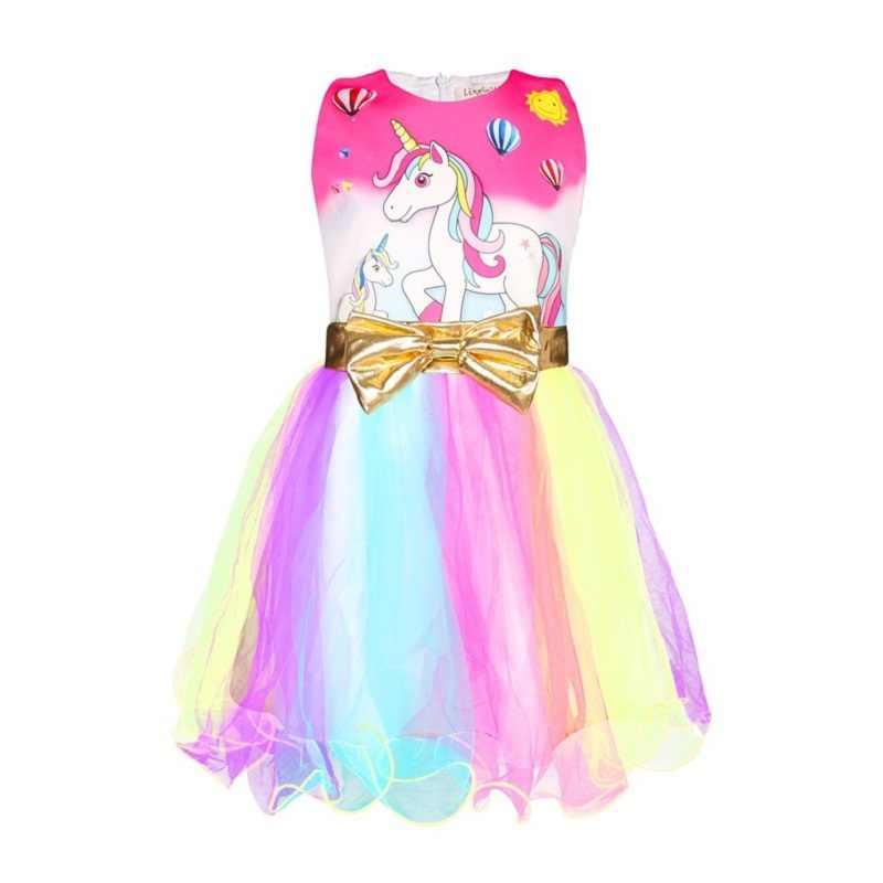 女の子虹ユニコーンチュチュドレス夏子供プリンセス Frocks ためのクリスマスの服幼児のパーティー衣装レース Menina ローブ Fille