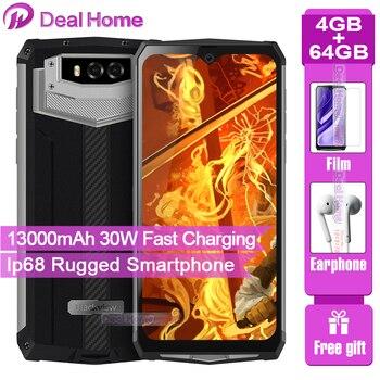 Перейти на Алиэкспресс и купить Blackview BV9100 смартфон с 6,3-дюймовым дисплеем, восьмиядерным процессором MT6765, ОЗУ 4 Гб, ПЗУ 64 ГБ, Android 9,0, 13000 мАч