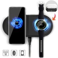 2 In 1 Quick QI Wireless Charger Pad for Samsung Galaxy Buds Watch Active Gear S2 S3 S4 Sport Mobile Phone Fast Wireless Charger|Wireless Chargers| |  -