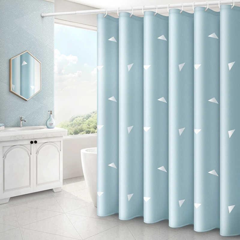 هندسي مثلث دش الستار الحمام مقاوم للماء البوليستر دش الستار الطباعة الستائر للحمام دش مع السنانير