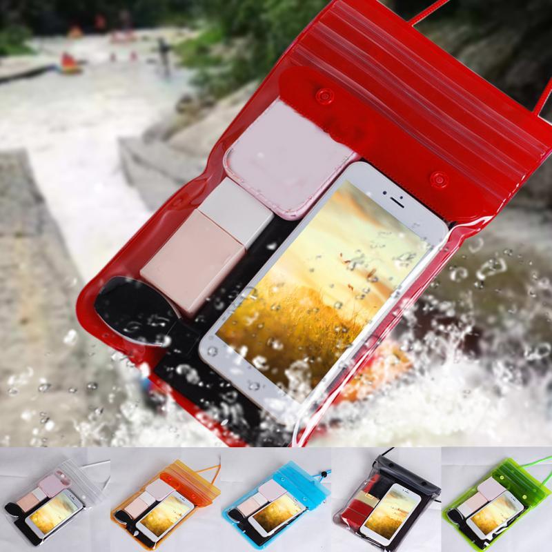 Outdoor Swimming Bag Waterproof Phone Storage Bag Wallets Cosmetics Eco-friendly Dustproof Dry Songkran Festival Beach Rafting