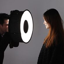 Anillo Softbox Speedlight estilo redondo Flash luz Shoot Soft box plegable suave Flash luz difusor cámaras(China)