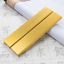 Brass Paperweights Portable Paperweights 2pcs Small Creative Chinese Tradtional Calligraphy Pen Ink Painting Paper Weight