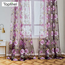 Luxury Sheer Curtains for Living Room The Bedroom Kitchen Tulle for Windows Voile Yarn Curtains Curtains for Bedroom Purple