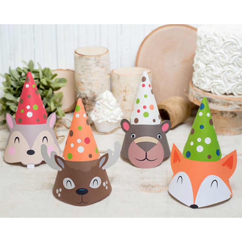 Gorros divertidos atrezo para fotografía de fiesta de cumpleaños para niños de 4 Uds.