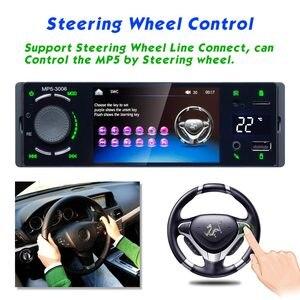 """Image 3 - Lustro Link 1 Din Autoradio samochodowy Radio 4.1 """"ekran dotykowy Auto Audio Bluetooth samochodowe Stereo MP5 odtwarzacz multimedialny kamera cofania"""