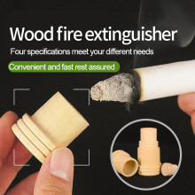 Wooden Moxibustion Extinguisher Moxa Massage Device Moxa Fire Extinguisher Roller Roll Holder Stick Moxibustion Smokeless Device