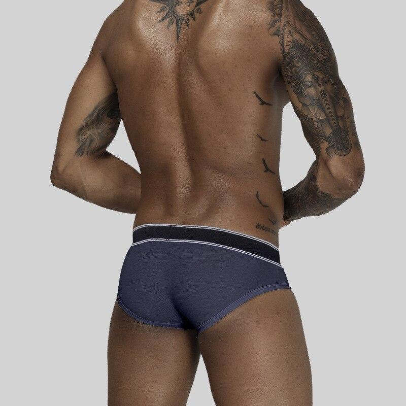 Cailin Kelei fashion brand men's underwear triangle low waist sexy u pouch solid color underwear 1502 3