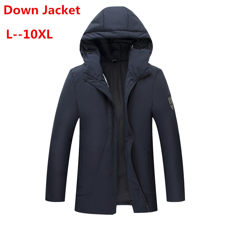 PLUS 10XL 8XL 6XL 5X 90% White Duck Thick Down Jacket Men Coat Snow Parkas Male Warm Brand Clothing Winter Down Jacket Outerwear