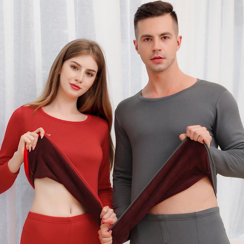 2 Piece/Set Long Johns Men Woman Winter Thermal Suit Male Female Warm Thermal Underwear Clothing Long Underwear Winter Sleepwear