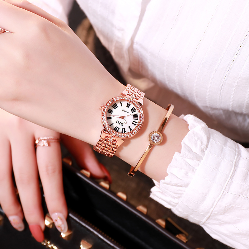 New Luxury Gold Watches Women Bracelet Quartz Watch Fashion Jewelry Ladies Crystal Wristwatch Casual Steel Belt Small Gift Clock in Women 39 s Watches from Watches