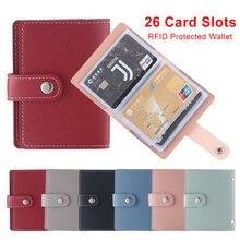 Business-Card-Holder Credit-Card-Bag Passport-Bag Plastic 24-Card Cute Fashion Korean