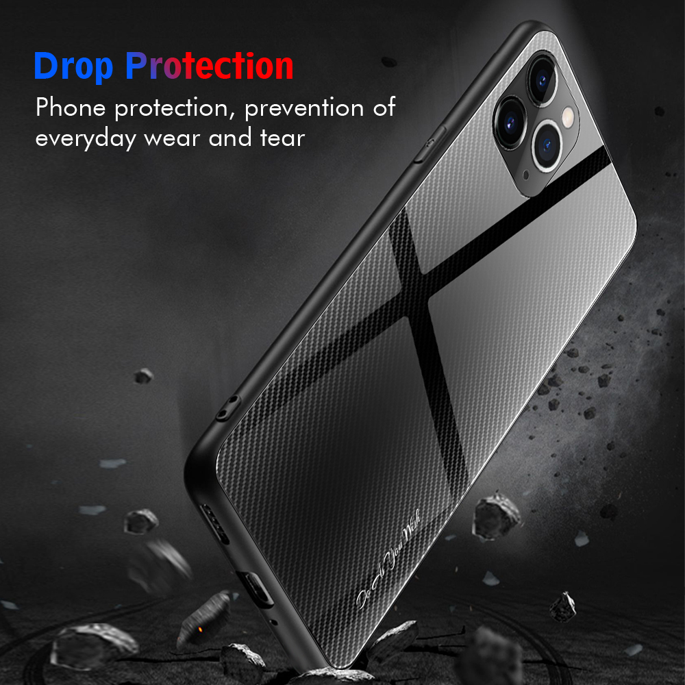 LECAYEE Super Tempered Glass Case for iPhone 11 Pro Max 7 6s 8 Plus XR Xs Max Coque Color Cover for iPhone XR X Xs MAX Cases (12)