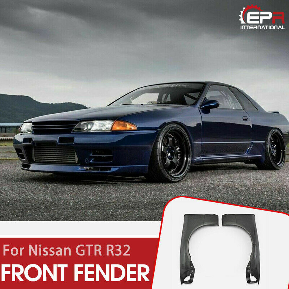 For Nissan R32 Skyline GTR OE Style FRP Fiber Unpainted Front Fender Car accessories Exterior Body kits|Mudguards| |  - title=