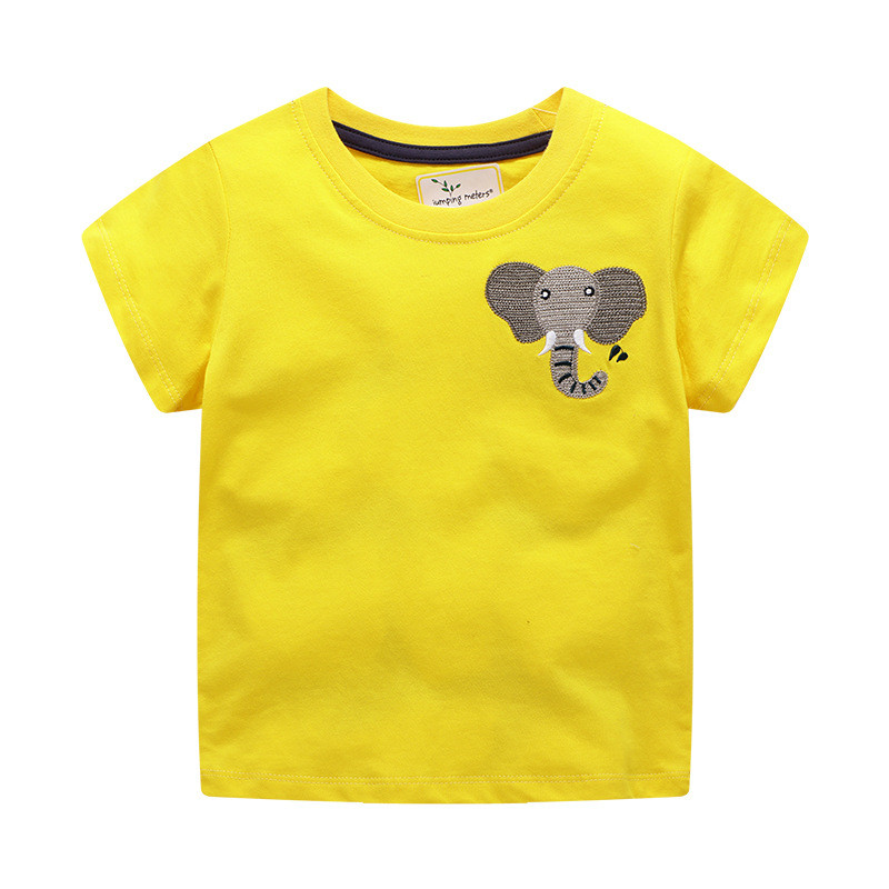 Children Girls cotton tops tees jersey clothing for 2 7t baby girl t shirts with applique giraffe cute t shirt girls clothing Tees     - title=