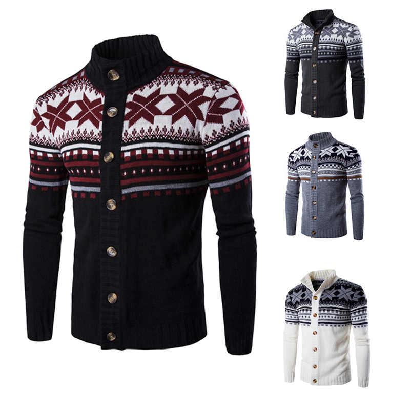 새로운 남자 스웨터 카디 건 니트 가을 스웨터 남자 패션 캐주얼 뜨개질 터틀넥 o-넥 망 카디 건 스웨터