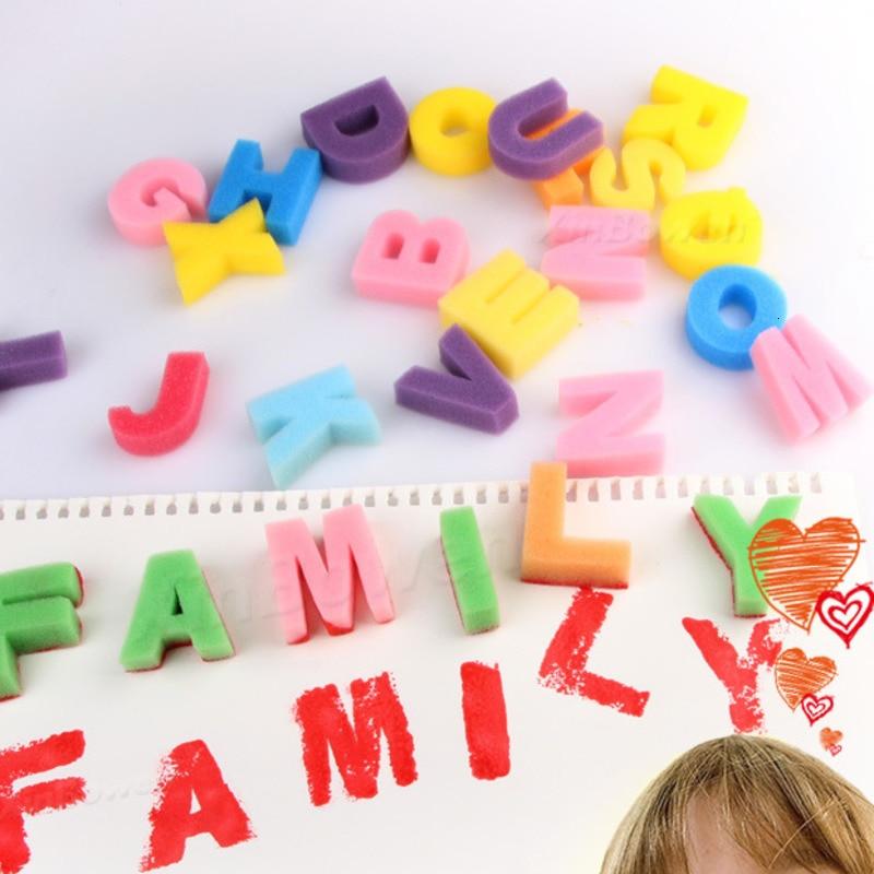 26pcs Children's DIY Painting Tool Color Mini Sponge Brush Seal Opp Bag Packaging Colorful Sponge Wooden Handle Handmade By Baby