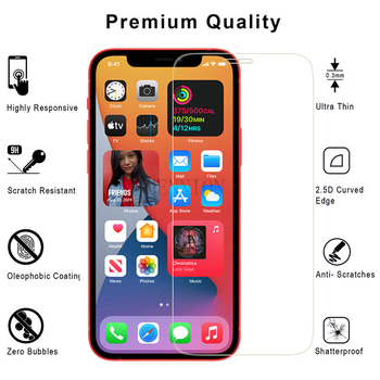 Premium 0.3mm 2.5D 9H Tempered Glass Screen Protector for New iPhone 12 mini 5.4 pro 6.1 max 6.7 11 XR XS X 8 7 plus 6s 100pcs