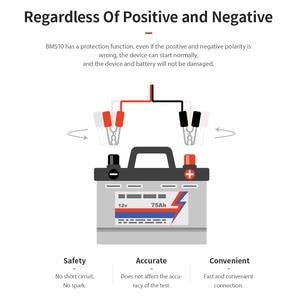 Image 2 - KINGBOLEN BM510 Auto Batterie Tester Mit Bildschirm 6V 12V 24V Lkw Motorrad Reversible Zugang Clip Ladespannung test Werkzeug