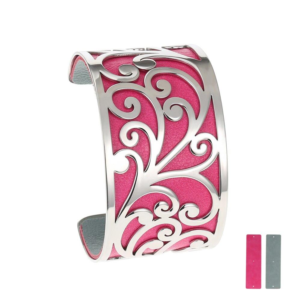Bracelets acier inoxydable Legenstar Bracelets pour femmes bijoux Manchette Interchangeable Bracelet Manchette Femme grand Argent