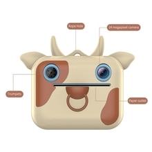 Kids Instant Print Camera Toy Child Cartoon Selfie Digital Camera Video Recorder R66D